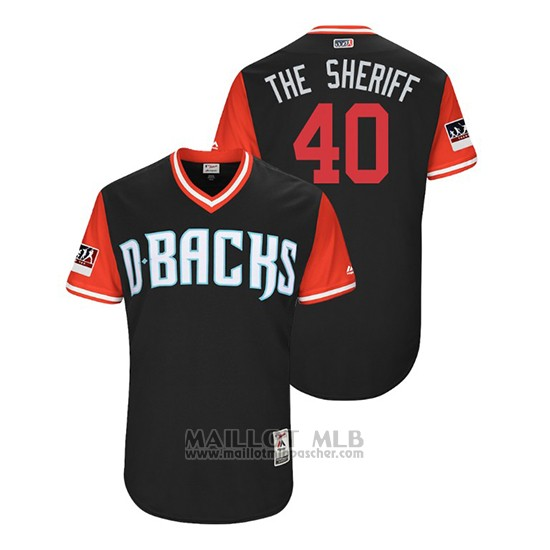 Maillot Baseball Homme Arizona Diamondbacks Andrew Chafin 2018 Llws Players Weekend The Sheriff Noir
