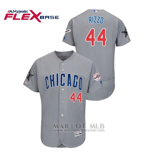Maillot Baseball Homme Chicago Cubs Anthony Rizzo 2019 All Star Flex Base Gris
