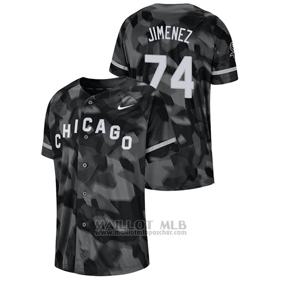 Maillot Baseball Hombre Chicago White Sox Eloy Jimenez Camouflage Authentique Collezione Noir