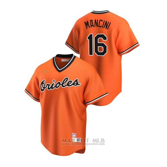 Maillot Baseball Homme Baltimore Orioles Trey Mancini Cooperstown Collection Alterner Orange