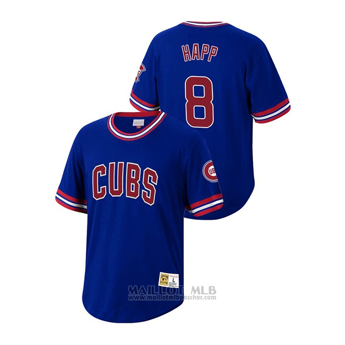 Maillot Baseball Homme Chicago Cubs Ian Happ Cooperstown Collection Bleu