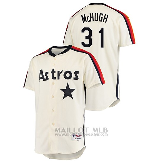 Maillot Baseball Homme Houston Astros Collin Mchugh Oilers Vs. Houston Astros Cooperstown Collection Creme