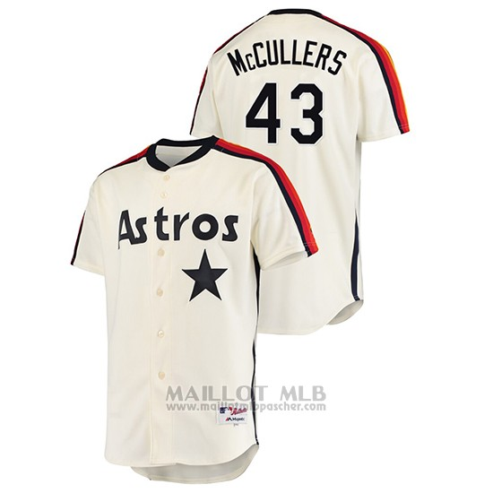 Maillot Baseball Homme Houston Astros Lance Mccullers Oilers Vs. Houston Astros Cooperstown Collection Creme