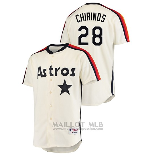 Maillot Baseball Homme Houston Astros Robinson Chirinos Oilers Vs. Houston Astros Cooperstown Collection Creme