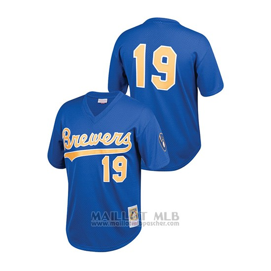Maillot Baseball Enfant Milwaukee Brewers Robin Yount Cooperstown Collection Mesh Batting Practice Bleu