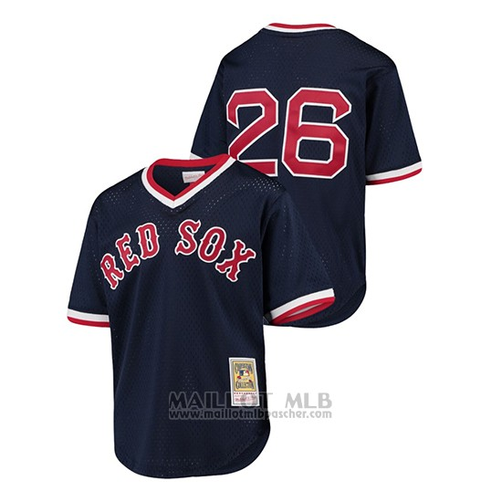 Maillot Baseball Enfant Red Sox Wade Boggs Cooperstown Collection Mesh Batting Practice Bleu