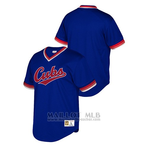 Maillot Baseball Hombre Chicago Cubs Cooperstown Collection Mesh Wordmark Bleu