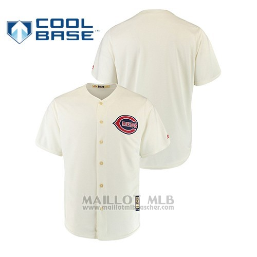 Maillot Baseball Hombre Cincinnati Reds Cool Base Cooperstown Collection 1939 Crema