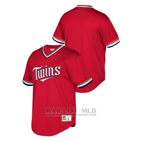 Maillot Baseball Hombre Minnesota Twins Cooperstown Collection Mesh Wordmark Rouge