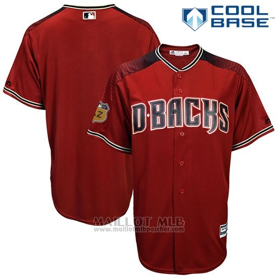 Maillot Baseball Homme Arizona Diamondbacks Rouge 2017 Entrainement de printemps Cool Base