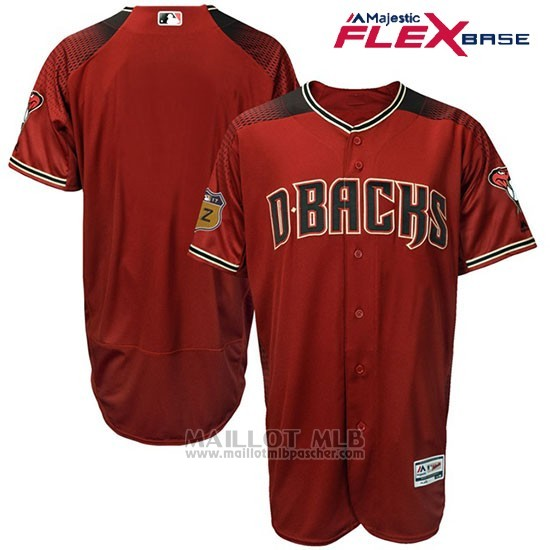 Maillot Baseball Homme Arizona Diamondbacks Rouge 2017 Entrainement de printemps Flex Base Team