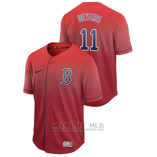 Maillot Baseball Homme Boston Red Sox Rafael Devers Fade Authentique Rouge