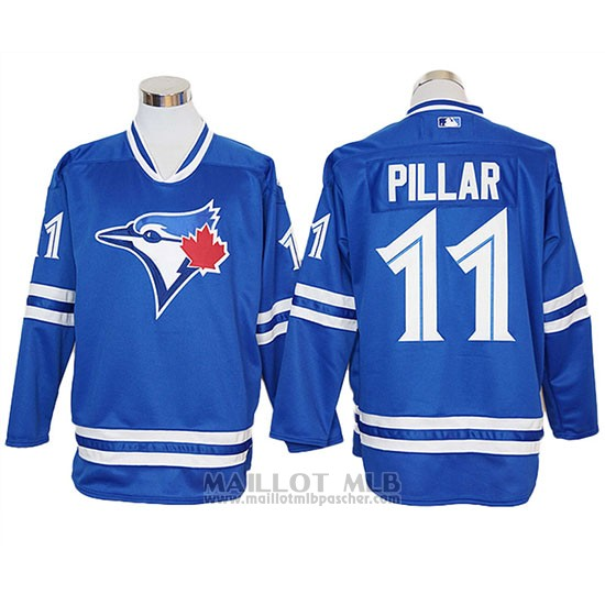 Maillot Baseball Homme Toronto Blue Jays Kevin Pillar Authentique Manches Longues