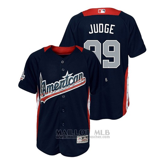 Maillot Baseball Enfant All Star Game Majestic Aaron Judge 2018 Domicile Run Derby American League Bleu