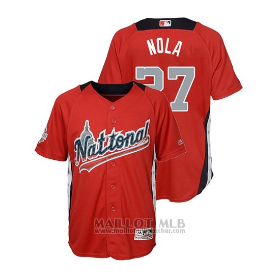 Maillot Baseball Enfant All Star Game Majestic Aaron Nola 2018 Domicile Run Derby National League Rouge