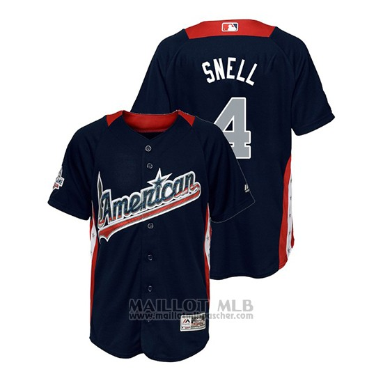 Maillot Baseball Enfant All Star Game Majestic Blake Snell 2018 Domicile Run Derby American League Bleu