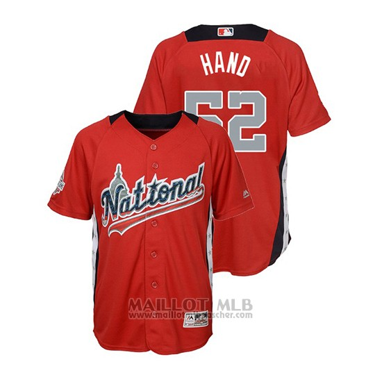 Maillot Baseball Enfant All Star Game Majestic Brad Hand 2018 Domicile Run Derby National League Rouge