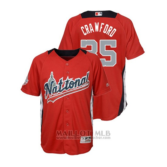 Maillot Baseball Enfant All Star Game Majestic Brandon Crawford 2018 Domicile Run Derby National League Rouge