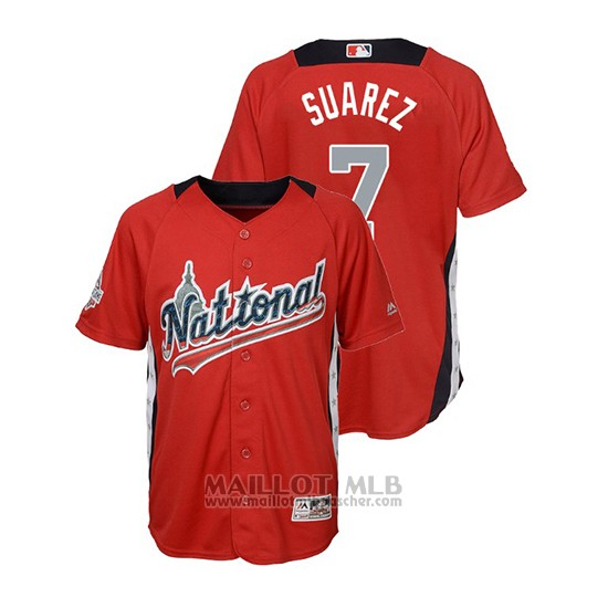 Maillot Baseball Enfant All Star Game Majestic Eugenio Suarez 2018 Domicile Run Derby National League Rouge