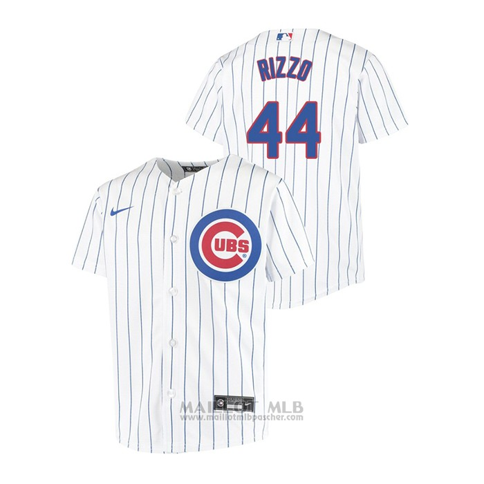 Maillot Baseball Enfant Chicago Cubs Anthony Rizzo Replique Primera Blanc