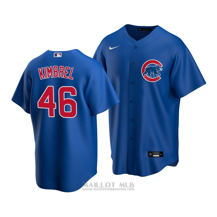 Maillot Baseball Enfant Chicago Cubs Craig Kimbrel Replique Alterner 2020 Bleu