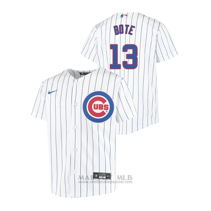 Maillot Baseball Enfant Chicago Cubs David Bote Replique Primera Blanc