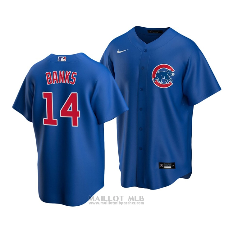 Maillot Baseball Enfant Chicago Cubs Ernie Banks Replique Alterner 2020 Bleu
