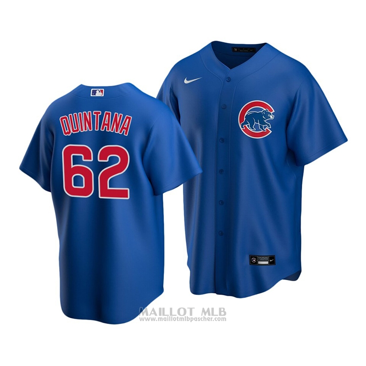 Maillot Baseball Enfant Chicago Cubs Jose Quintana Replique Alterner 2020 Bleu