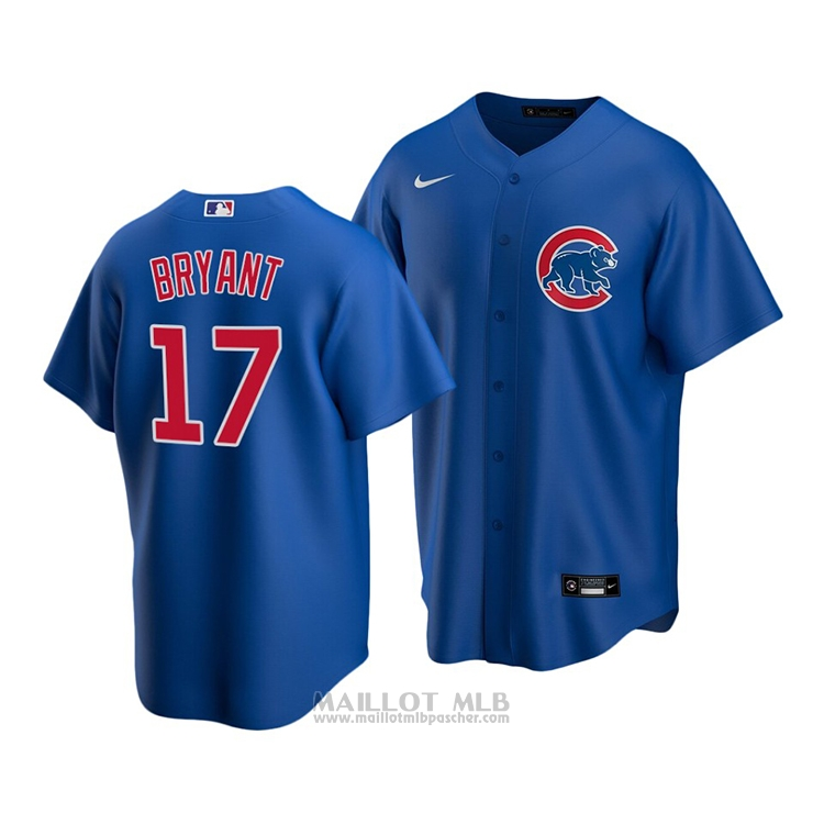 Maillot Baseball Enfant Chicago Cubs Kris Bryant Replique Alterner 2020 Bleu