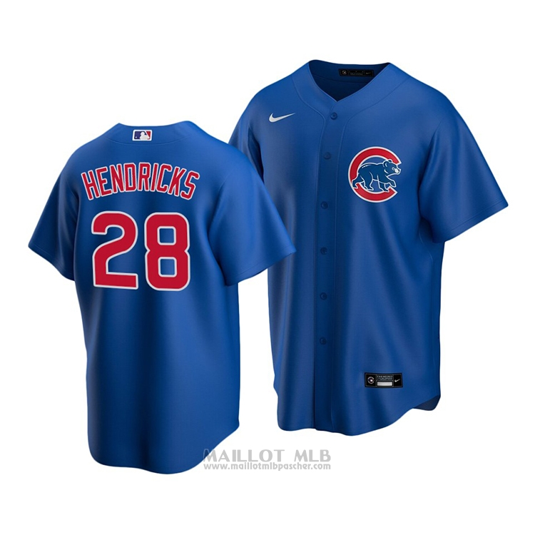 Maillot Baseball Enfant Chicago Cubs Kyle Hendricks Replique Alterner 2020 Bleu