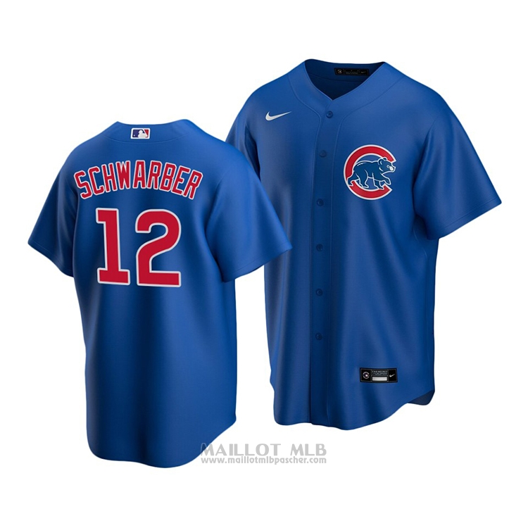 Maillot Baseball Enfant Chicago Cubs Kyle Schwarber Replique Alterner 2020 Bleu