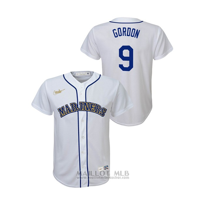 Maillot Baseball Enfant Seattle Mariners Dee Gordon Cooperstown Collection Primera Blanc