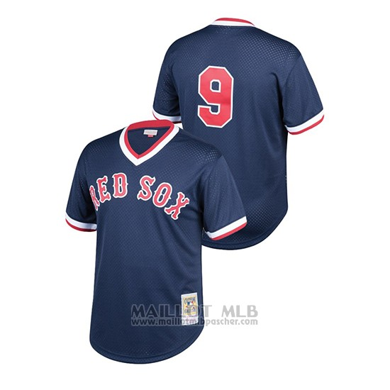 Maillot Baseball Enfant Boston Red Sox Ted Williams Cooperstown Collection Mesh Batting Practice Bleu