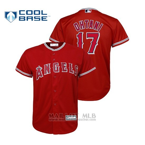 Maillot Baseball Enfant Los Angeles Angels Shohei Ohtani Cool Base Majestic Replica Alterno Rouge