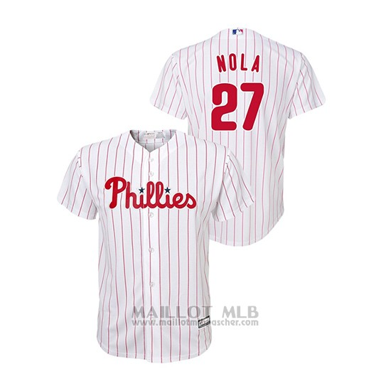 Maillot Baseball Enfant Philadelphia Phillies Aaron Nola Cool Base Blanc
