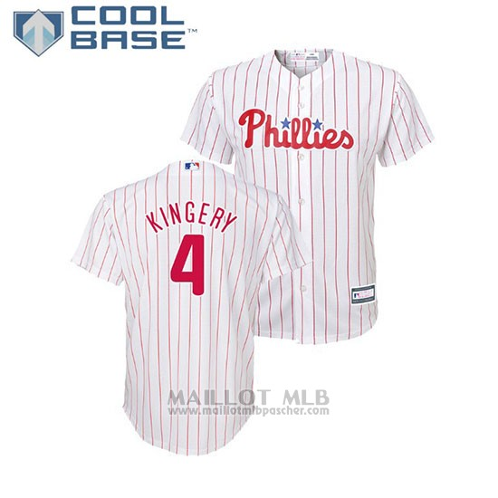 Maillot Baseball Enfant Philadelphia Phillies Scott Kingery Cool Base Majestic Domicile Replique Blanc
