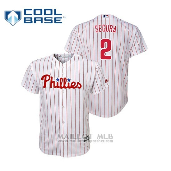 Maillot Baseball Enfant Philadelphia Phillies Jean Segura Cool Base Replica Domicile Blanc