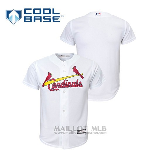 Maillot Baseball Enfant St. Louis Cardinals Cool Base Replica Blanc