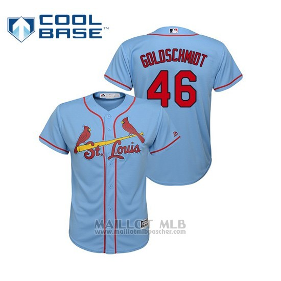 Maillot Baseball Enfant St. Louis Cardinals Paul Goldschmidt 2019 Cool Base Majestic Alterno Horizon Blue