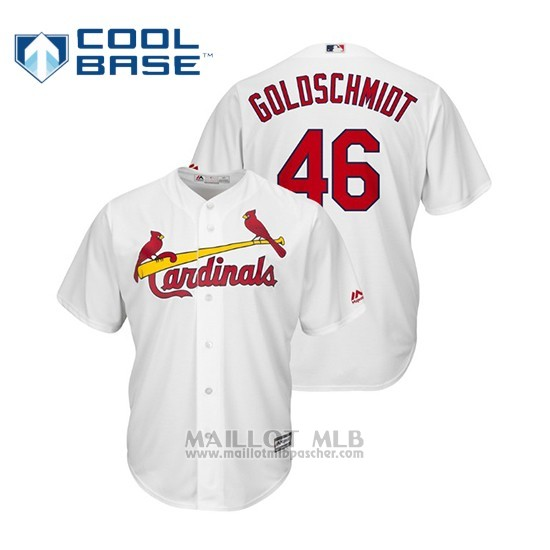 Maillot Baseball Enfant St. Louis Cardinals Paul Goldschmidt Cool Base Replica Domicile Blanc