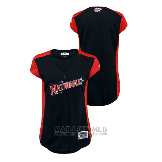 Maillot Baseball Femme 2019 All Star National League Workout Bleu