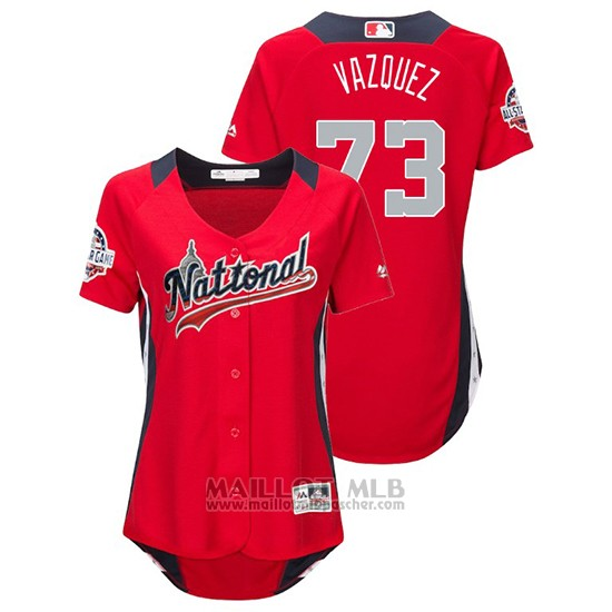 Maillot Baseball Femme All Star Game Majestic Felipe Vazquez 2018 Domicile Run Derby National League Rouge