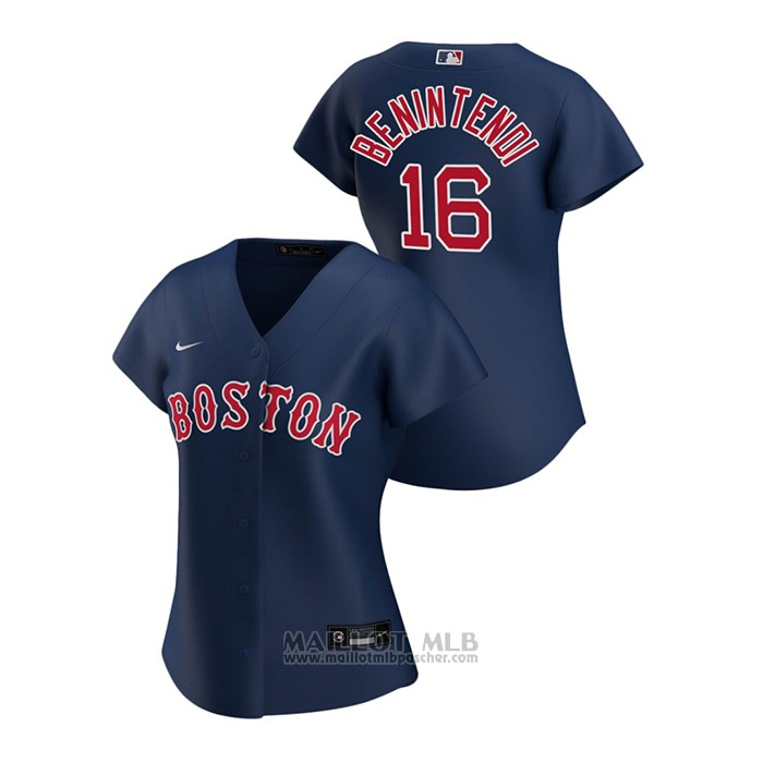 Maillot Baseball Femme Boston Red Sox Andrew Benintendi 2020 Replique Alterner Bleu