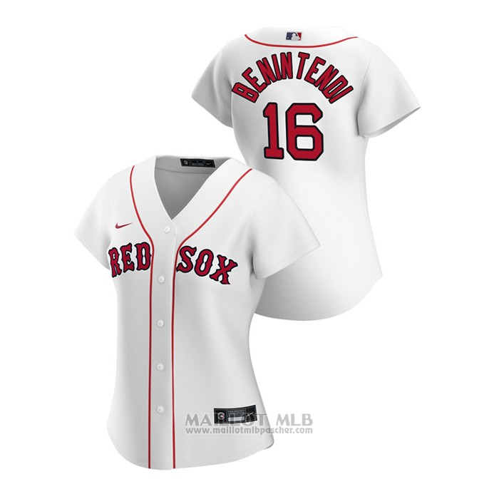 Maillot Baseball Femme Boston Red Sox Andrew Benintendi 2020 Replique Primera Blanc