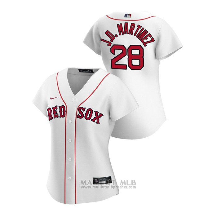 Maillot Baseball Femme Boston Red Sox J.d. Martinez 2020 Replique Primera Blanc