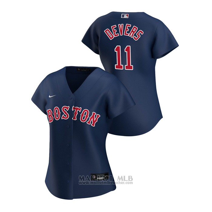 Maillot Baseball Femme Boston Red Sox Rafael Devers 2020 Replique Alterner Bleu