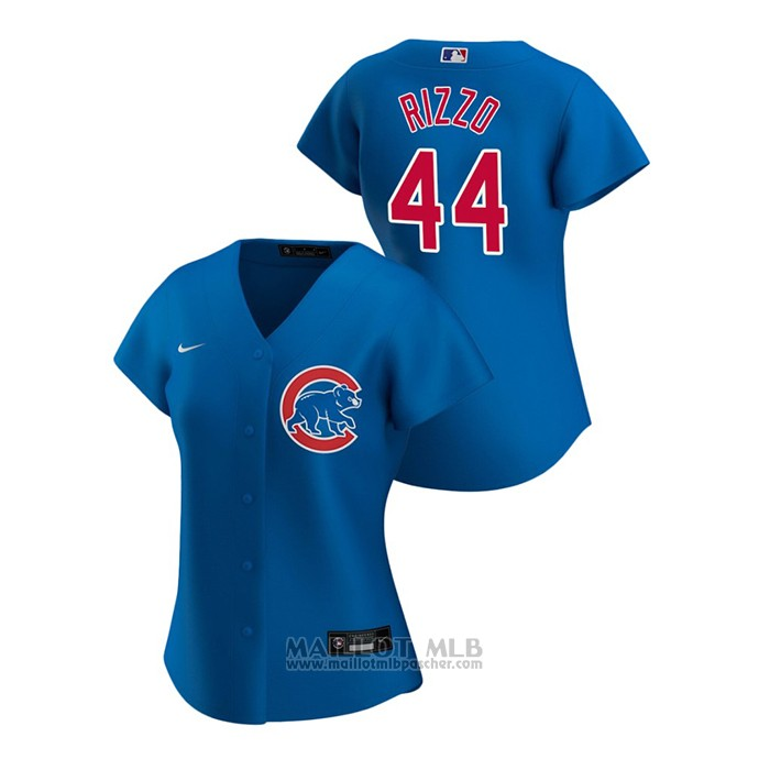 Maillot Baseball Femme Chicago Cubs Anthony Rizzo 2020 Replique Alterner Bleu