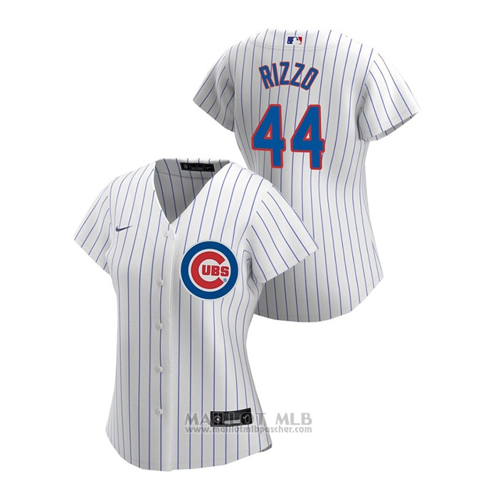 Maillot Baseball Femme Chicago Cubs Anthony Rizzo 2020 Replique Primera Blanc