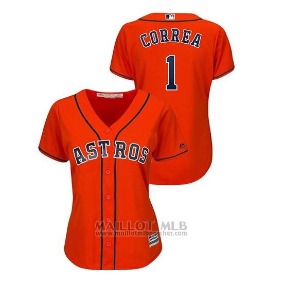 Maillot Baseball Femme Houston Astros Carlos Correa Cool Base Orange