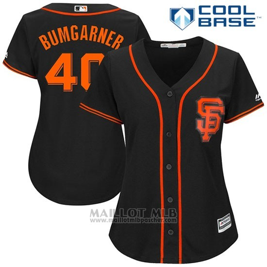 Maillot Baseball Femme San Francisco Giants 40 Madison Bumgarner Noir 2017 Cool Base